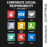 corporate social responsibility ... | Shutterstock .eps vector #1219979818