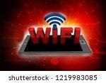 3d rendering transmitter mobile ... | Shutterstock . vector #1219983085