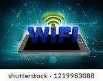 3d rendering transmitter mobile ... | Shutterstock . vector #1219983088