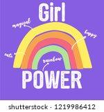 rainbow and slogan vector | Shutterstock .eps vector #1219986412