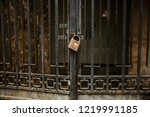 conceptual picture of an old... | Shutterstock . vector #1219991185