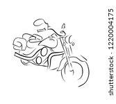 scooter sketch. bike print.... | Shutterstock .eps vector #1220004175