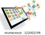 tablet computer with dynamic... | Shutterstock . vector #122002198