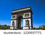paris  france. august 6  2018 ... | Shutterstock . vector #1220037772