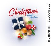 christmas decoration objects... | Shutterstock .eps vector #1220046832