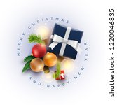 christmas decoration objects... | Shutterstock .eps vector #1220046835