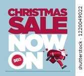 vector christmas design with... | Shutterstock .eps vector #1220049022