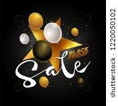 vector black friday sale poster ... | Shutterstock .eps vector #1220050102