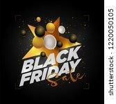 vector black friday sale poster ... | Shutterstock .eps vector #1220050105