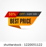 price label. special offer sale ... | Shutterstock .eps vector #1220051122