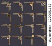 art deco corner. modern graphic ... | Shutterstock .eps vector #1220051152