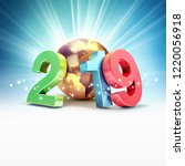 2019 new year colorful date... | Shutterstock . vector #1220056918
