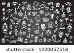 doodle graphic line elements... | Shutterstock .eps vector #1220057518
