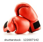 Pair Of Red Leather Boxing...