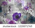3d wallpaper design with...   Shutterstock . vector #1220071765