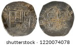 ancient spanish silver coin of... | Shutterstock . vector #1220074078