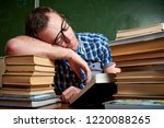 tired and tortured disheveled...   Shutterstock . vector #1220088265