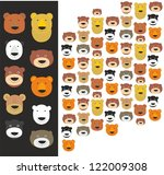 set of bear heads | Shutterstock .eps vector #122009308