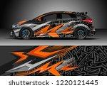 racing car wrap design vector.... | Shutterstock .eps vector #1220121445