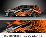 racing car wrap design vector.... | Shutterstock .eps vector #1220121448