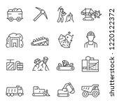 Mining  Icon Set. Extraction O...