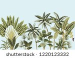 tropical vintage botanical palm ... | Shutterstock .eps vector #1220123332
