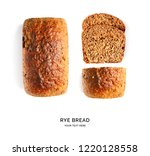 creative layout made of bread....   Shutterstock . vector #1220128558
