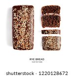 creative layout made of bread.... | Shutterstock . vector #1220128672