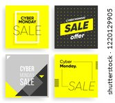 cyber monday covers set.... | Shutterstock .eps vector #1220129905
