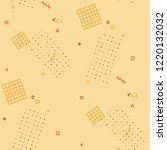 modern memphis pattern.... | Shutterstock .eps vector #1220132032