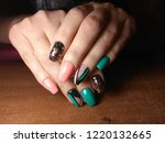 the manicurist excellently made ... | Shutterstock . vector #1220132665