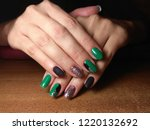 the manicurist excellently made ... | Shutterstock . vector #1220132692