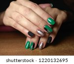 the manicurist excellently made ... | Shutterstock . vector #1220132695