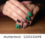 the manicurist excellently made ... | Shutterstock . vector #1220132698