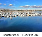 yachts parking in the adriatic... | Shutterstock . vector #1220145202