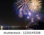dipawali celebration fireworks | Shutterstock . vector #1220145208