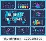 set of teamwork and statistics... | Shutterstock .eps vector #1220156902
