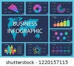 creative business infographic...   Shutterstock .eps vector #1220157115