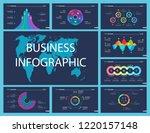 business inforgraphic slide...   Shutterstock .eps vector #1220157148