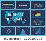 business inforgraphic design...   Shutterstock .eps vector #1220157178
