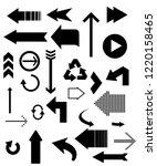 black arrow icons.   Shutterstock .eps vector #1220158465