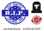 grunge cow cemetery icon and... | Shutterstock .eps vector #1220161525