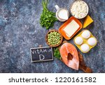 healthy foods containing... | Shutterstock . vector #1220161582