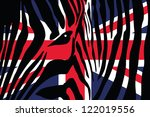 a zebra pattern with the flag... | Shutterstock .eps vector #122019556