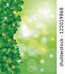 st patricks day shamrock leaves ... | Shutterstock .eps vector #122019868