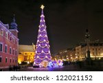 Christmas Tree In Warsaw  Poland