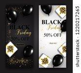 black friday sale vertical...   Shutterstock . vector #1220217265