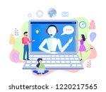 illustration  customer service  ...   Shutterstock . vector #1220217565
