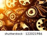 car engine closeup  focus on... | Shutterstock . vector #122021986