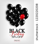 black friday sale poster with...   Shutterstock . vector #1220220208